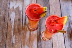 Suco tropical da melancia Imagem de Stock Royalty Free