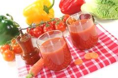 Suco vegetal Imagens de Stock Royalty Free