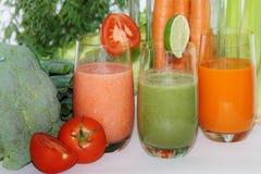 Suco vegetal Imagem de Stock Royalty Free