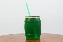 Suco verde da soda da maçã Foto de Stock