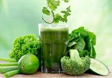 Suco verde saudável Foto de Stock