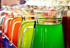 Sucos coloridos imagem de stock