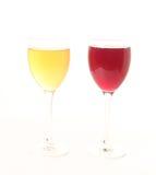 Sucos coloridos orgânicos Imagem de Stock
