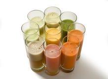 Sucos de fruta Fotos de Stock Royalty Free