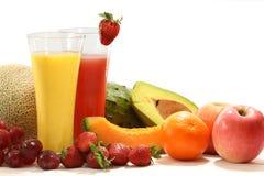 Sucos de fruta Imagens de Stock