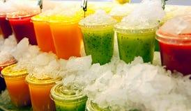 Sucos de fruta Foto de Stock Royalty Free