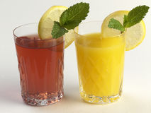 Sucos de fruta Imagem de Stock Royalty Free