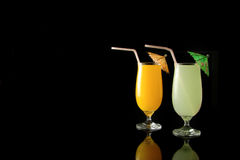 Sucos de fruta Fotografia de Stock Royalty Free