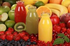 Sucos de fruta fresca Imagem de Stock