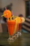 Sucos de fruta frescos Imagens de Stock