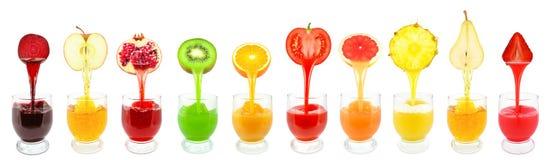 Sucos de fruto Fotografia de Stock Royalty Free