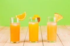 Sucos de fruto Imagem de Stock Royalty Free