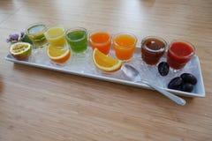 Sucos de fruto imagens de stock