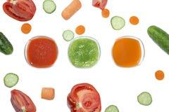 Sucos frescos Foto de Stock