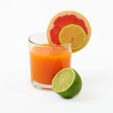 Sucos frescos do citrino Foto de Stock Royalty Free