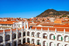 Sucre aerial view Royalty Free Stock Photography