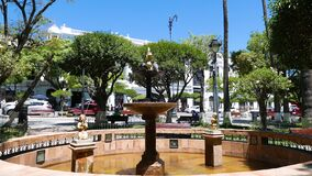 Sucre Bolivia May 25th square fountain