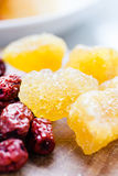 Sucre candi avec le fruit de jujube Photos stock