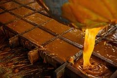 Sucre de Panela fait par manière naturelle en Colombie Photo libre de droits