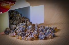 Sucre de roche de Kandis Photographie stock libre de droits