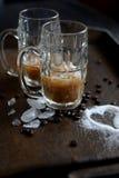 Sucre glacé de café Images libres de droits