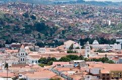 Sucre, hoofdstad van Bolivië stock afbeeldingen