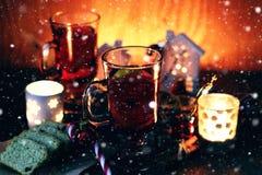 Sucre orange de cannelle de grog de Noël Images stock