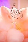 Sucre rose doux de connexion d'amour de décoration de mariage Photographie stock