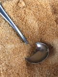 sucre roux de sucre brut Image stock