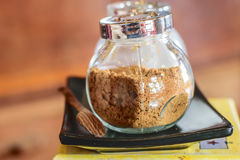 Sucre roux en café Photographie stock libre de droits