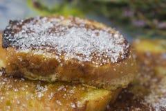 Sucre sur des pains grillés Photographie stock