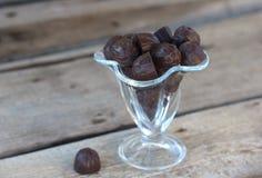 Sucrerie avec du chocolat foncé Photographie stock