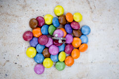 Sucrerie avec un anneau Photo libre de droits