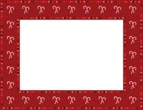 Sucrerie Cane Frame de Noël Photographie stock libre de droits