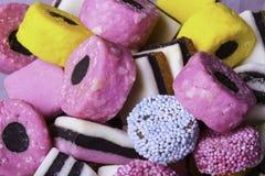Sucrerie colorée de réglisse Photos libres de droits
