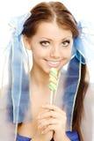 Sucrerie de bonbon à fille de lucette photographie stock libre de droits