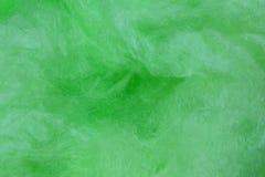 Sucrerie de coton verte Photo libre de droits