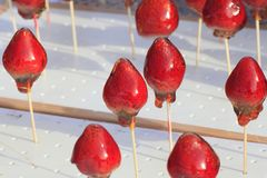 Sucrerie de fraise au Japon Image stock