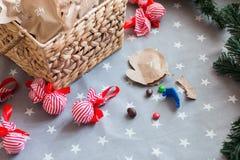 Sucrerie de Noël de calendrier d'avènement Images libres de droits