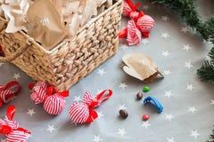 Sucrerie de Noël de calendrier d'avènement Images stock