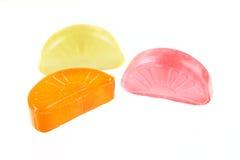 Sucrerie de sucre orange, jaune et rouge Images libres de droits