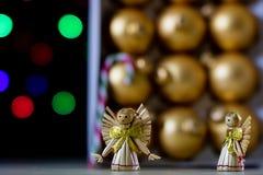 Sucrerie douce de Noël sous forme de bâton Sucreries de Noël image stock