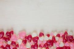 Sucrerie en forme de coeur assortie de gelée Image libre de droits