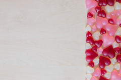 Sucrerie en forme de coeur assortie de gelée Photo libre de droits