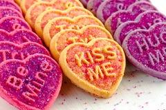 Sucrerie et biscuits de coeur de jour de valentines Photo libre de droits