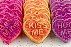 Sucrerie et biscuits de coeur de jour de valentines Photographie stock libre de droits