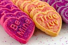 Sucrerie et biscuits de coeur de jour de valentines Photos libres de droits