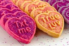 Sucrerie et biscuits de coeur de jour de valentines Image libre de droits