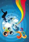 Sucrerie et musique ! Images libres de droits
