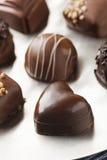 Sucrerie foncée de fantaisie gastronome de truffe de chocolat Image libre de droits